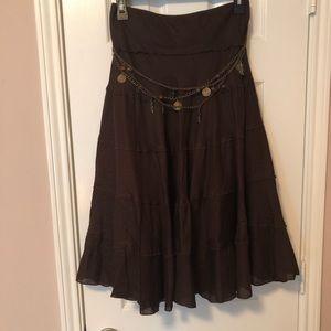 NY Collection Ruffled Skirt